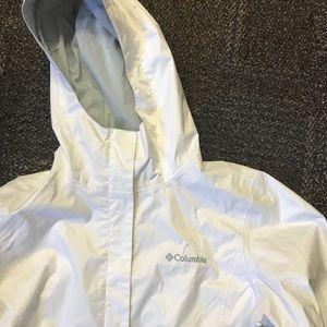 White Columbia rain jacket